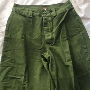 Free People green culottes